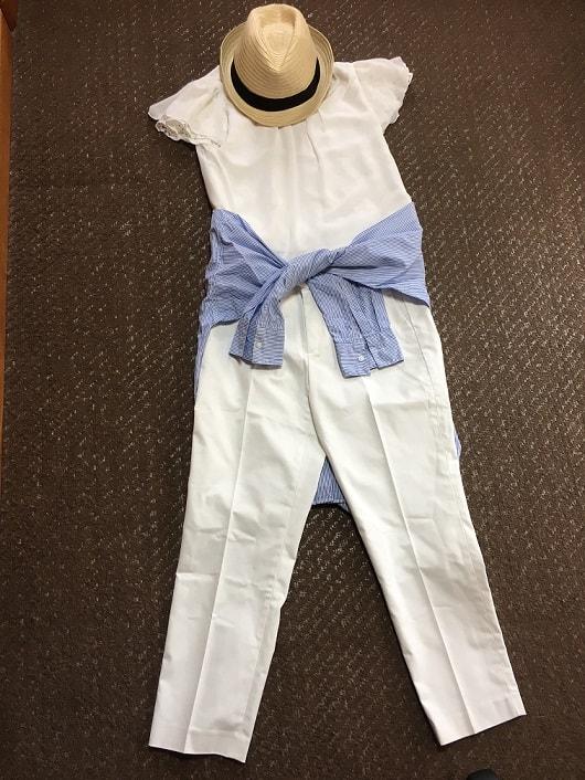 夏服のコーディネート例の画像