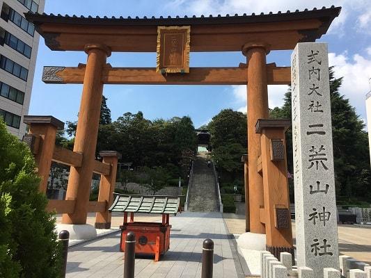 宇都宮二荒山神社の鳥居の画像