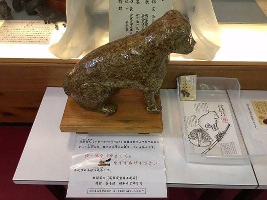 日本一可愛い狛犬のレプリカの画像
