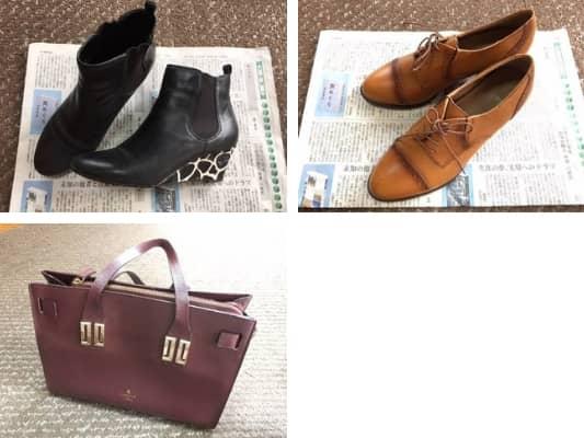 靴とカバンの画像