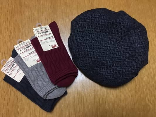 帽子と靴下の画像