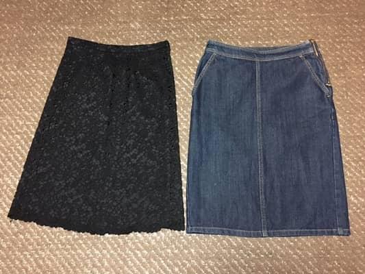 秋冬スカートの画像