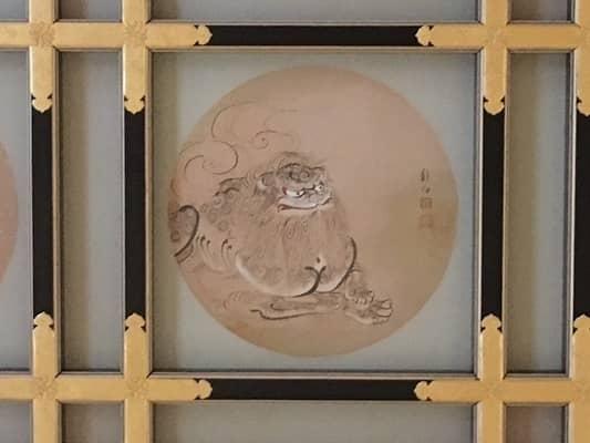 金の唐獅子の絵の画像