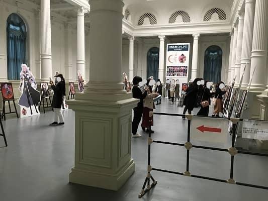 刀剣男士パネル展示の様子の画像