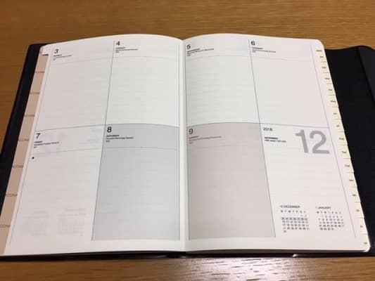 ブロックタイプ週間予定表ページの画像