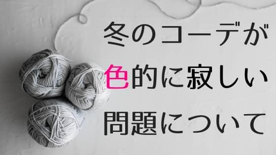 ミニマリストの冬コーデのアイキャッチ画像