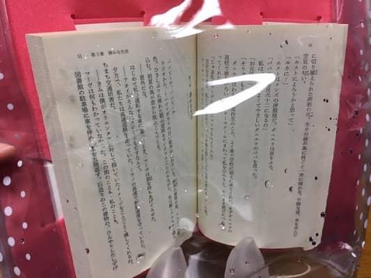 本が濡れないのが分かる画像