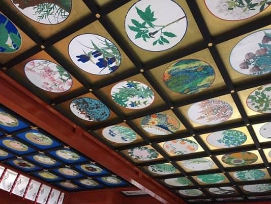 神楽殿の天井画の画像