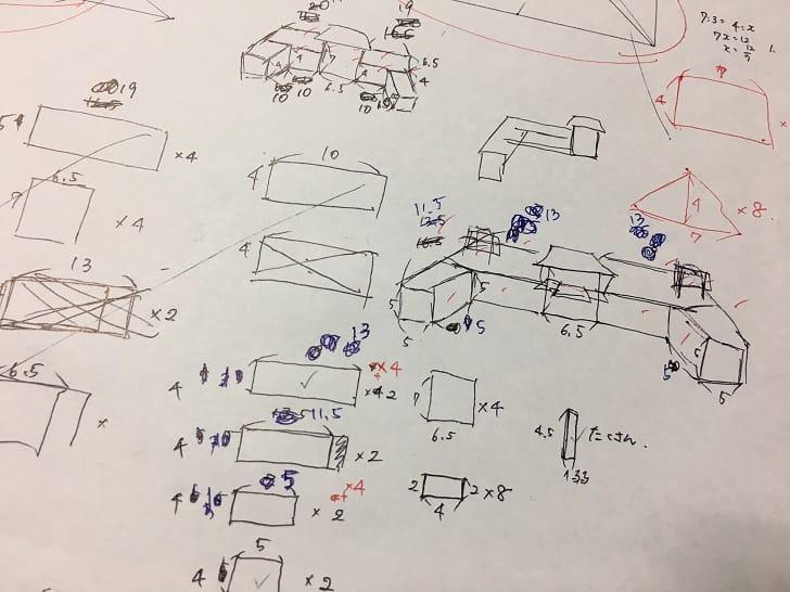 和風ヘクセンハウスの設計図1